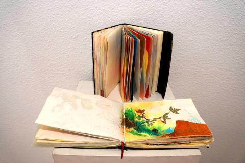 """Cuadernos de artista expuesto en la exhibición """"Alteraciones"""""""