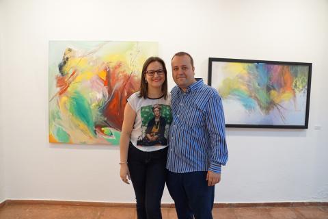 """Antonia Blanco y Ramón Cruz en la exposición """"Alteraciones"""""""