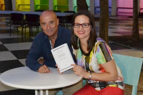 """Luis Montiel y Antonia Blanco en la presentación de """"El mundo alterado"""""""