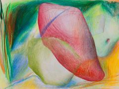 """""""#20"""", serie """"Sensualidades"""", lápiz de color sobre papel, 24 x 34 cm, 2011"""