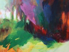 """""""Instante de bosque"""", acrílico y collage sobre tabla, 100 x 100 cm, 2009"""