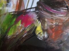 """""""Paisaje transparente"""", ceras sobre fotografía, 20 x 25 cm, 2009"""