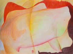 """""""#10"""", serie """"Sensualidades"""", lápiz de color sobre papel, 24 x 34 cm, 2011"""