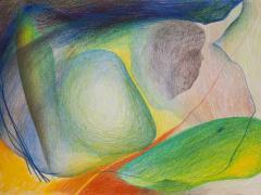 """""""#11"""", serie """"Sensualidades"""", lápiz de color sobre papel, 24 x 34 cm, 2011"""