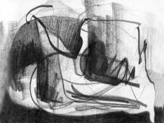 """#7"", serie ""Esencia de grises"", grafito sobre papel, 17 x 21,5 cm, 2008"