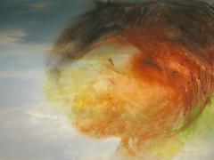 """""""Alcalá #71"""", ceras sobre fotografía, 13 x 18 cm, 2009"""