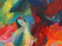"""Troza"", acrílico sobre tabla, 190 x 170 cm, 2009"