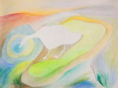 """""""#29"""", serie """"Sensualidades"""", lápiz de color sobre papel, 24 x 34 cm, 2011"""
