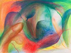 """""""#16"""", serie """"Sensualidades"""", lápiz de color sobre papel, 24 x 34 cm, 2011"""