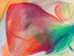 """""""#13"""", serie """"Sensualidades"""", lápiz de color sobre papel, 24 x 34 cm, 2011"""