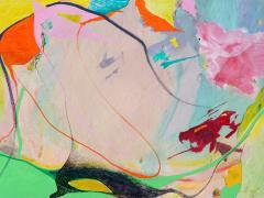 """""""Sobre el mar"""", serie """"Impresión de color"""", pintura sobre impresión digital, 42 x 60 cm, 2016"""